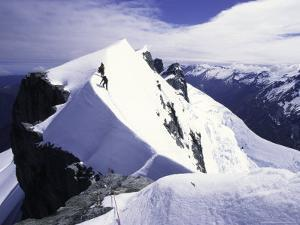 Close up of Climbers on Mt. Aspiring, New Zealand by Michael Brown