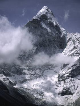 Cloud Cover Approaching Ama Dablam, Nepal by Michael Brown