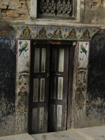 Door with Eyes, Nepal by Michael Brown