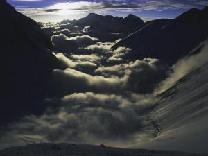Dramatic Sun and Clouds on Southside of Everest, Nepal by Michael Brown