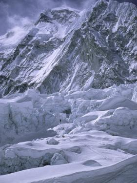 Khumbu Ice Fall, Everest, Nepal by Michael Brown