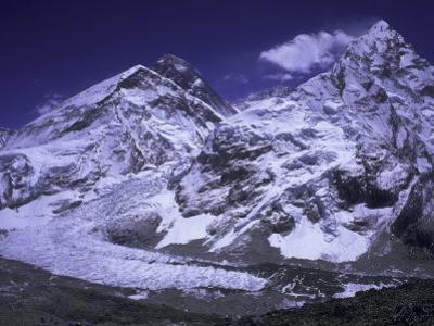 Khumbu Ice Fall Landscape at Everest, Nepal by Michael Brown