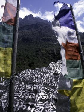 Mani Stone, Nepal by Michael Brown
