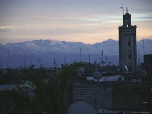 Marrakech with Mountains in Background by Michael Brown