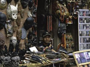 Masks, Nepal by Michael Brown