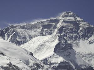 Mount Everest with Plumes, Tibet by Michael Brown