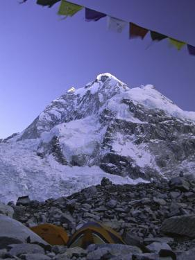 Mount Nuptse from Everest Base Camp, Nepal by Michael Brown