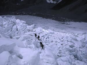 Mountaineering on Khumbu Ice Fall by Michael Brown