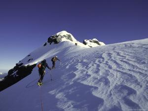 Mountaineering Through Untouched Snow, New Zealand by Michael Brown