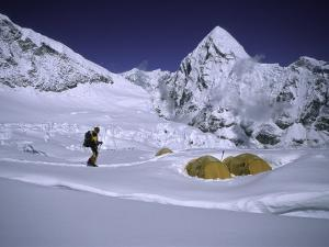 Mountainseer at Camp One Everest Northside by Michael Brown