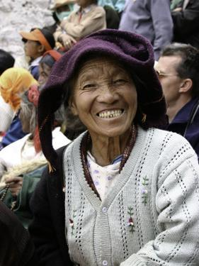 Old Woman, Tibet by Michael Brown