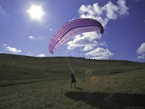 Paraglider on Field, USA by Michael Brown