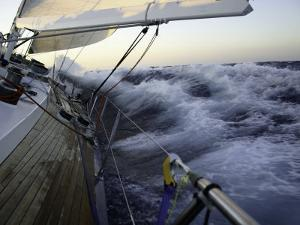 Sailboat in Rough Water, Ticonderoga Race by Michael Brown
