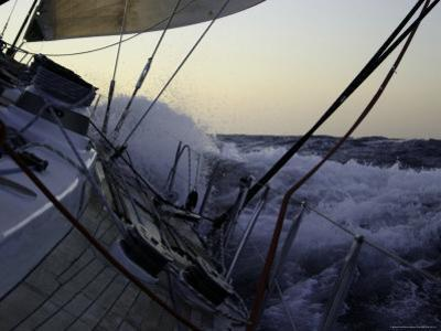 Sailboat in Rough Water, Ticonderoga Race