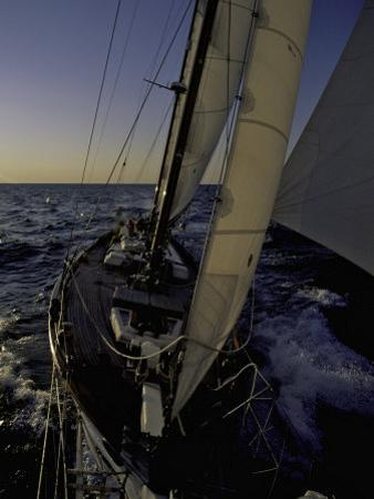 Sailing at Sunset, Ticonderoga Race by Michael Brown