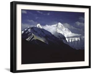 Shadowed Ridge Line Towards Mount Everest, Tibet by Michael Brown