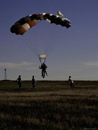 Skydiver Landing, USA
