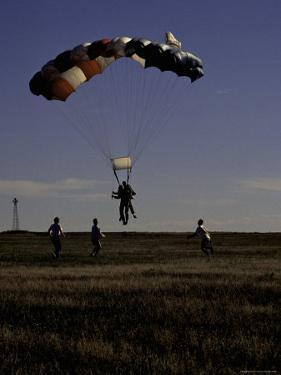 Skydiver Landing, USA by Michael Brown
