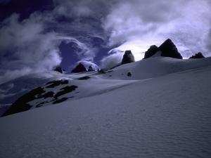 Snowy Mountains with Clouds, Chile by Michael Brown
