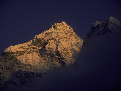 Sunset with Mountains, Nepal