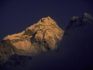 Sunset with Mountains, Nepal by Michael Brown