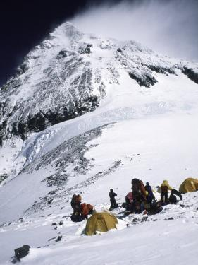 Tents on Southside of Everest, Nepal by Michael Brown