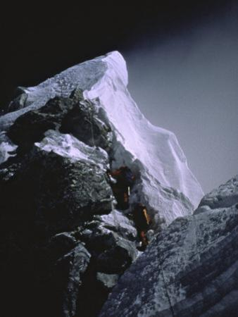 The Hillary Step at Dusk, Nepal by Michael Brown