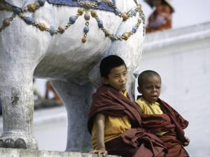 Two Young Boys, Nepal by Michael Brown