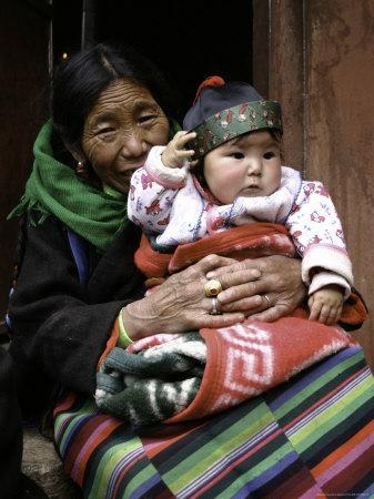 Woman with Child, Tibet