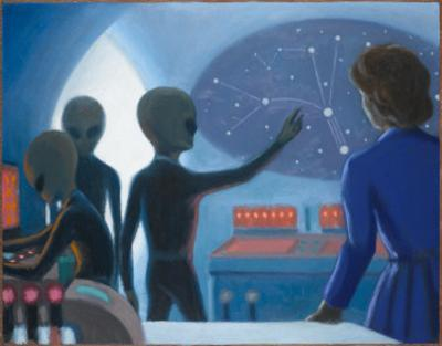 Betty Hill Abducted Aboard an Alien UFO by Michael Buhler
