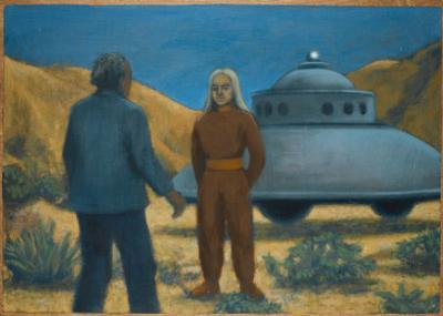 He Meets Orthon, a Venusian, at Desert Center, California by Michael Buhler