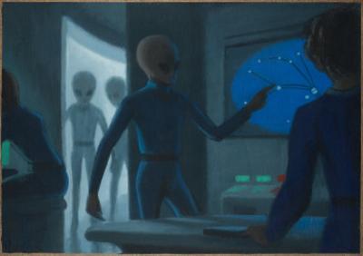 Hill Alien Abduction by Michael Buhler
