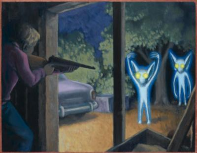 Terrorised by Small Glowing Aliens at a Farm Near Hopkinsville by Michael Buhler