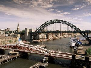 Bridges Across the River Tyne, Newcastle-Upon-Tyne, Tyne and Wear, England, United Kingdom by Michael Busselle