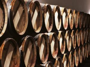 Casks in Cellar, Chateau Lynch Bages, Pauillac, Medoc, Cote d'Or, Burgundy, France by Michael Busselle