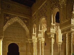Court of the Lions in the Alhambra Palace in Granada, Andalucia, Spain by Michael Busselle