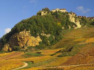 Hill Village of Chateau Chalon in the Jura, Franche Comte France by Michael Busselle
