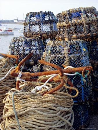 Lobster Pots, Normandy, France by Michael Busselle