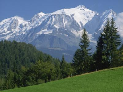 Mont Blanc, Haute Savoie, Rhone Alpes, Mountains of the French Alps, France, Europe by Michael Busselle