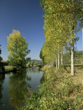 River Sarthe, Near Le Mans, Sarthe, Western Loire, Pays De La Loire, France by Michael Busselle