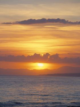 Sunset Over Sea, Costa Del Sol, Andalucia (Andalusia), Spain, Mediterranean by Michael Busselle