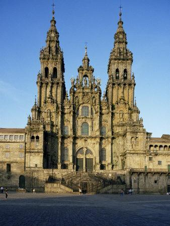 The Cathedral, Santiago De Compostela, Unesco World Heritage Site, Galicia, Spain
