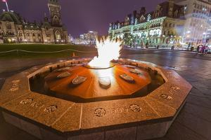 Centennial Flame Commemorating Canada's 100th Anniversary as a Confederation by Michael