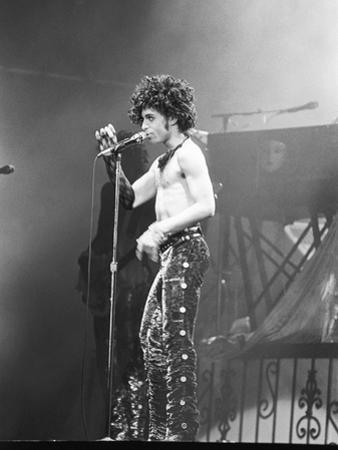 Prince, Shirtless During Concert, 1984 by Michael Cheers