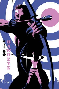 All-New Hawkeye No.4 Cover, Featuring Hawkeye and Kate Bishop by Michael Cho