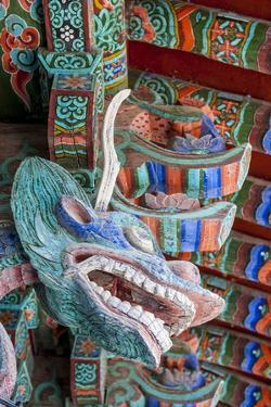 Coloured Wooden Roof in the Bulguksa Temple by Michael