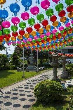 Colourful Paper Lanterns in the Fortress of Suwon by Michael