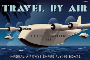 Travel By Air, Imperial Airways Empire Flying Boat by Michael Crampton