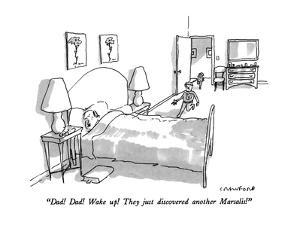 """""""Dad!  Dad!  Wake up!  They just discovered another Marsalis!"""" - New Yorker Cartoon by Michael Crawford"""