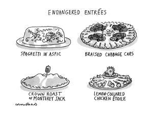 Endangered Entrees - New Yorker Cartoon by Michael Crawford